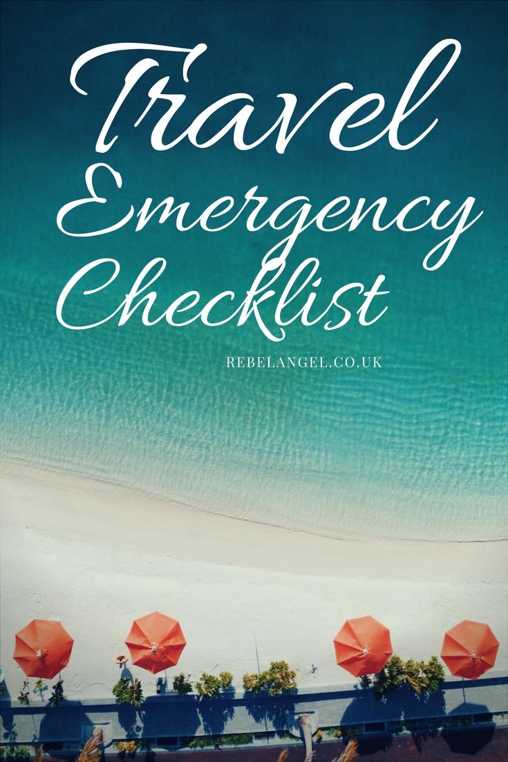 Travel Emergency Checklist