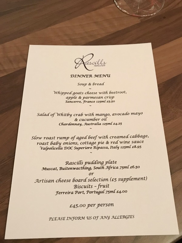 Rascills restaurant review, Raskelf, York - Tasting Menu