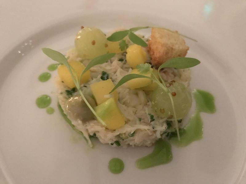 Rascills restaurant review, Raskelf, York - Salad of Whitby crab