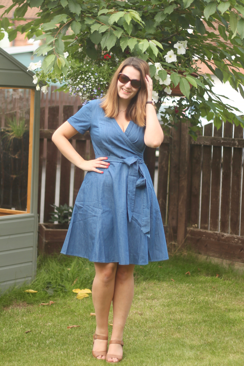 A summer dress outfit for a casual office