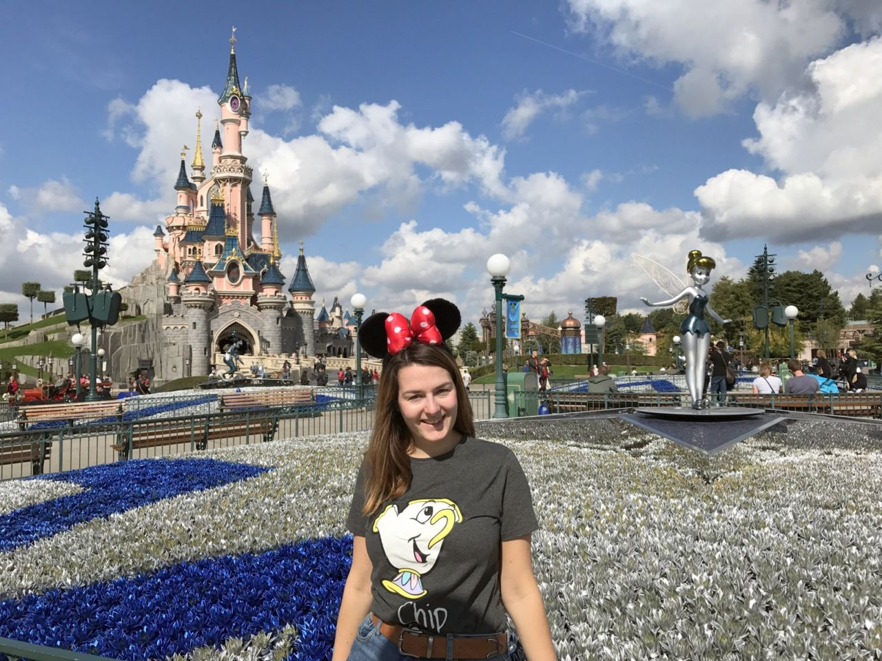 Disneyland Paris outfit in September with Mickey jumper & jeans