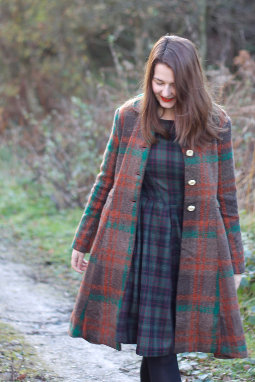 Alice's Pig Tartan Coat - Dorys Dallas