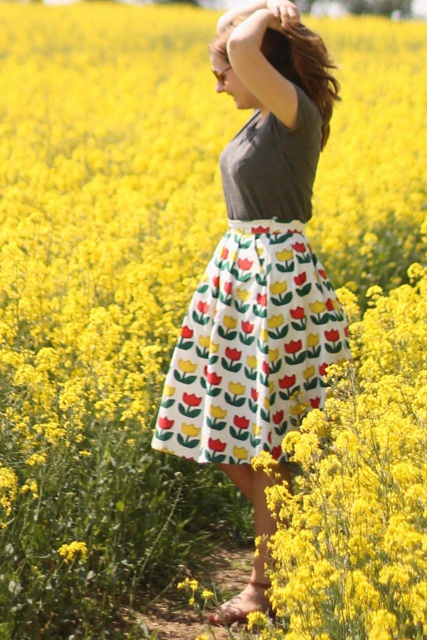 405Story tulip full midi skirt outfit