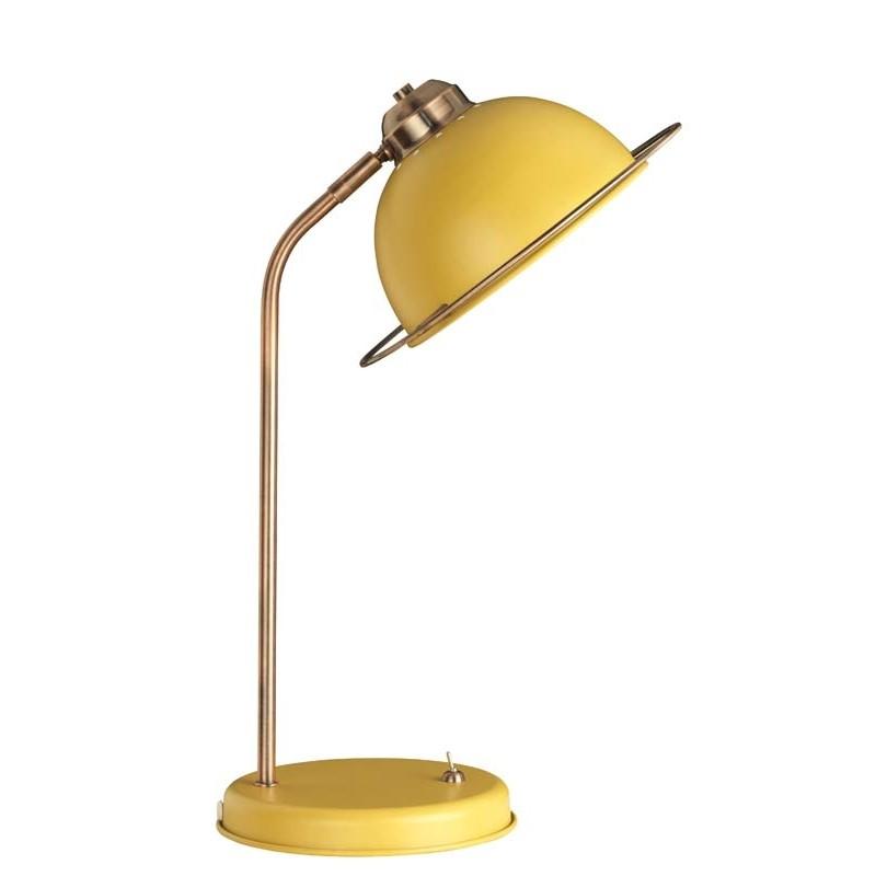 Zurleys Retro Matt Mustard Lamp