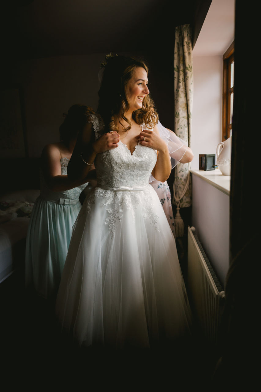 North Yorkshire wedding - getting ready