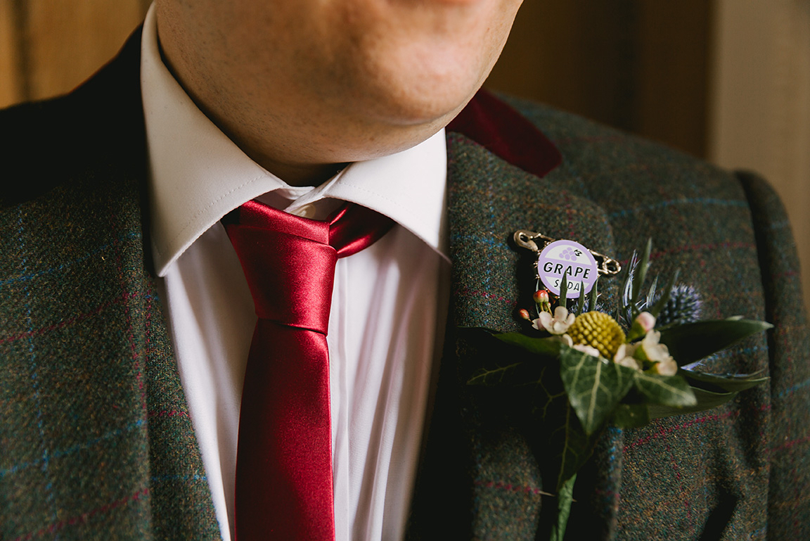 Disney's Up pin for groomsman at Disney wedding
