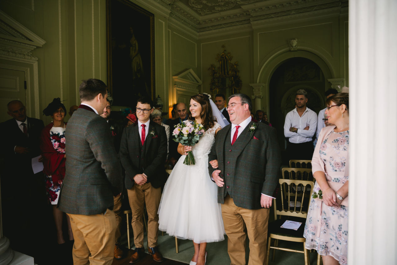 North Yorkshire wedding ceremony at Newburgh Priory