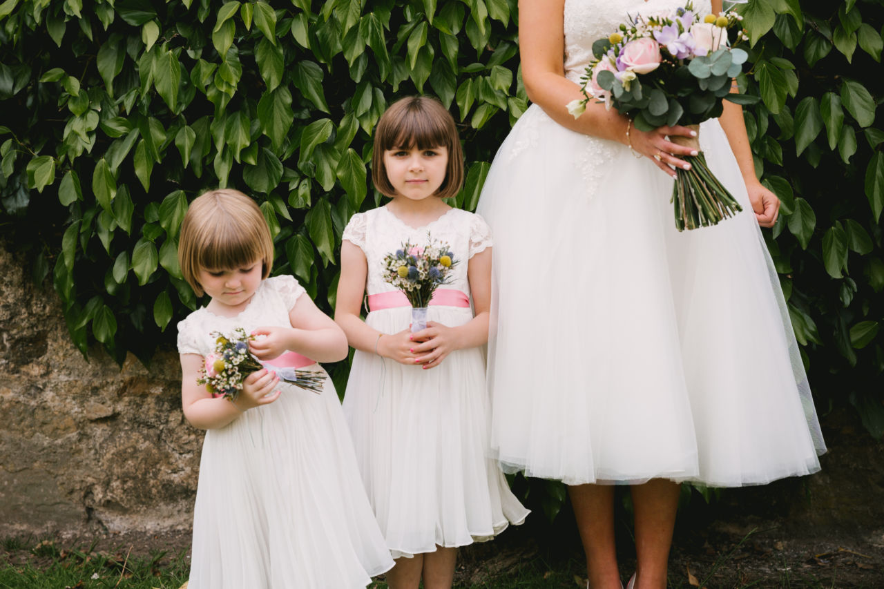 North Yorkshire wedding at Newburgh Priory bridesmaids