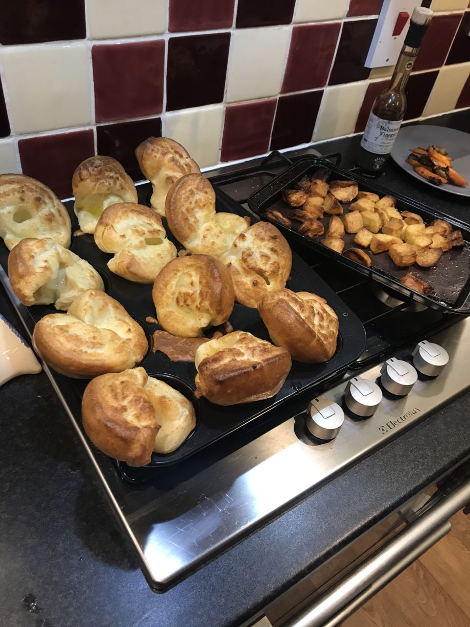 Yorkshire puddings and roast potatoes - Roast Dinner