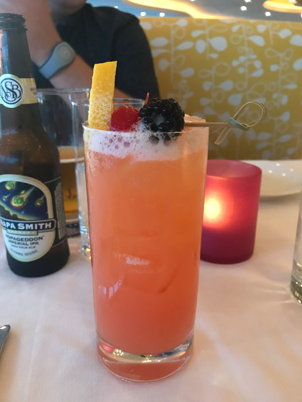 Disney Dining Review: California Grill at Disney's Contemporary Resort - non-alcoholic fruit punch