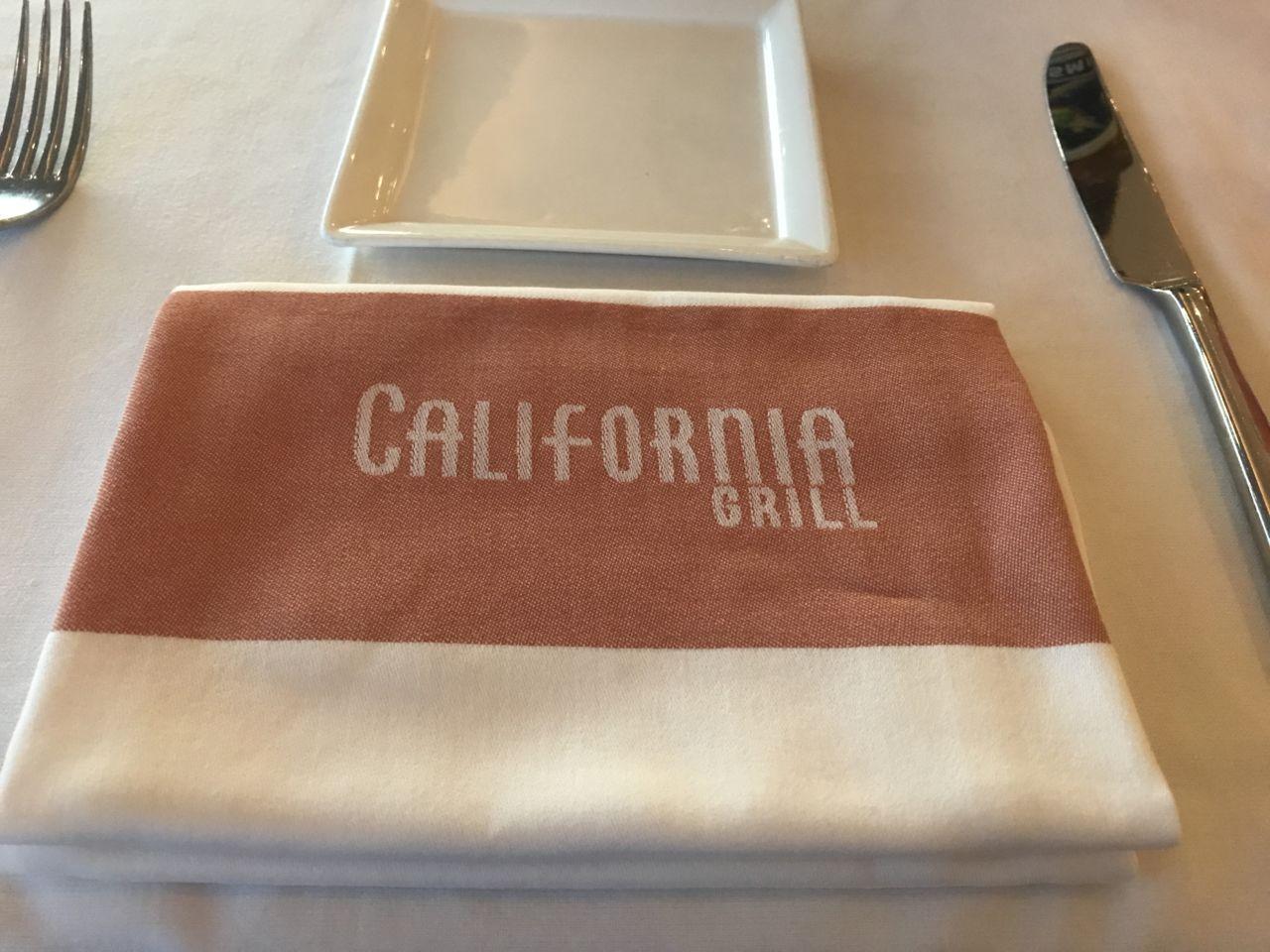 California Grill napkin