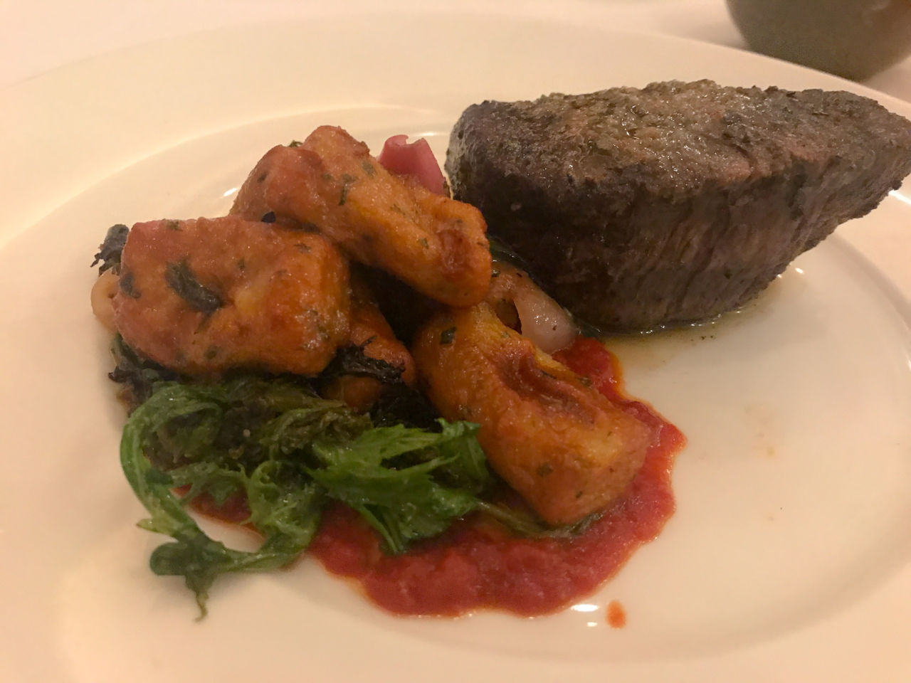 Disney Dining Review: California Grill at Disney's Contemporary Resort - oak-fired filet of beef