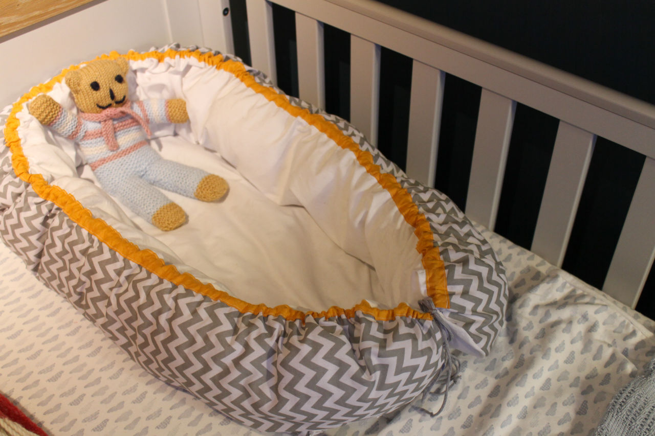 Sewing a Scandinavian style baby nest sewing pattern