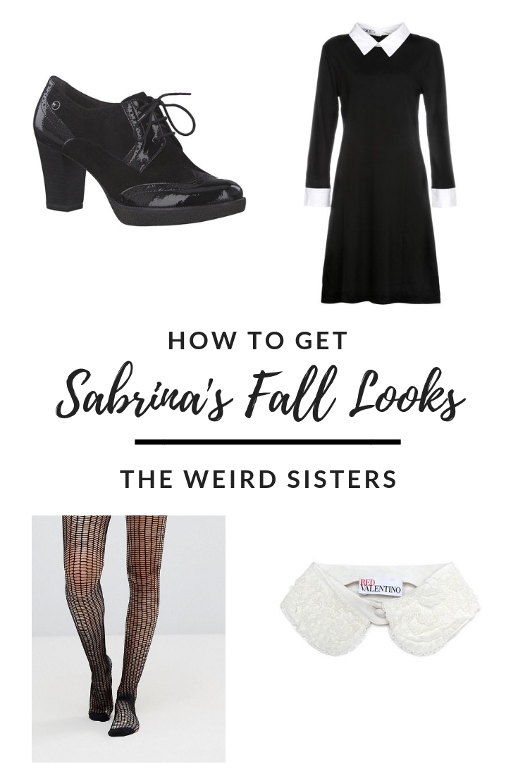 How to get Sabrina's fall outfits - Weird Sisters dress
