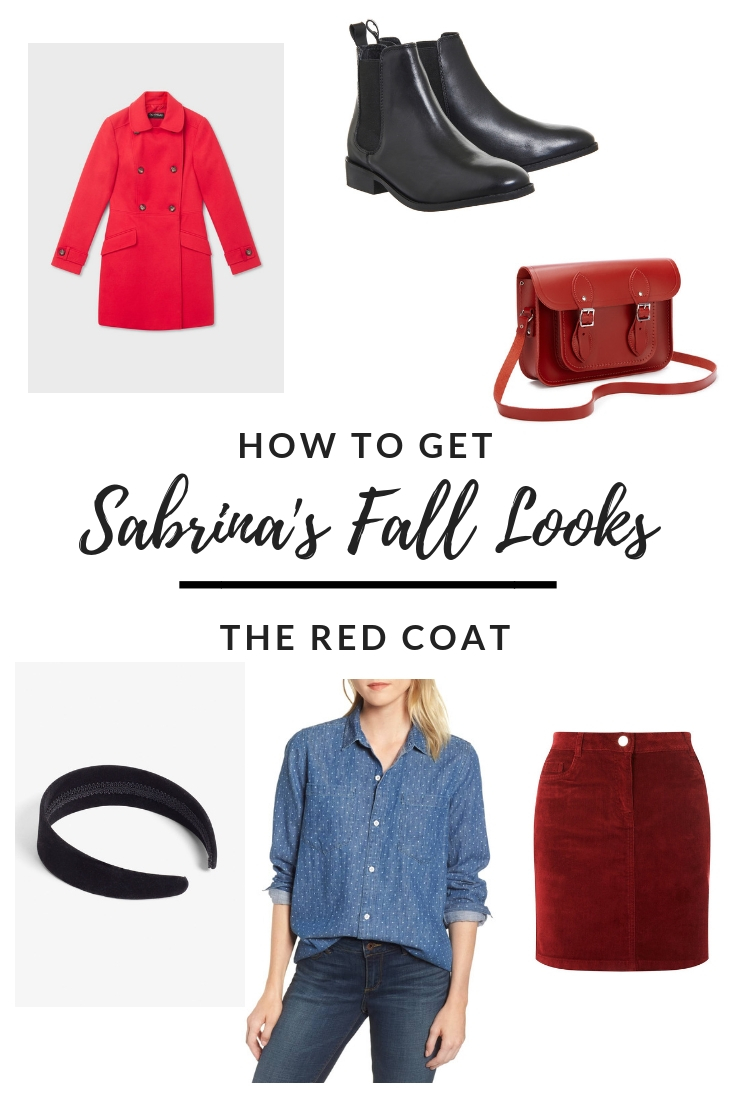 Sabrina Red Coat outfit - how to get it