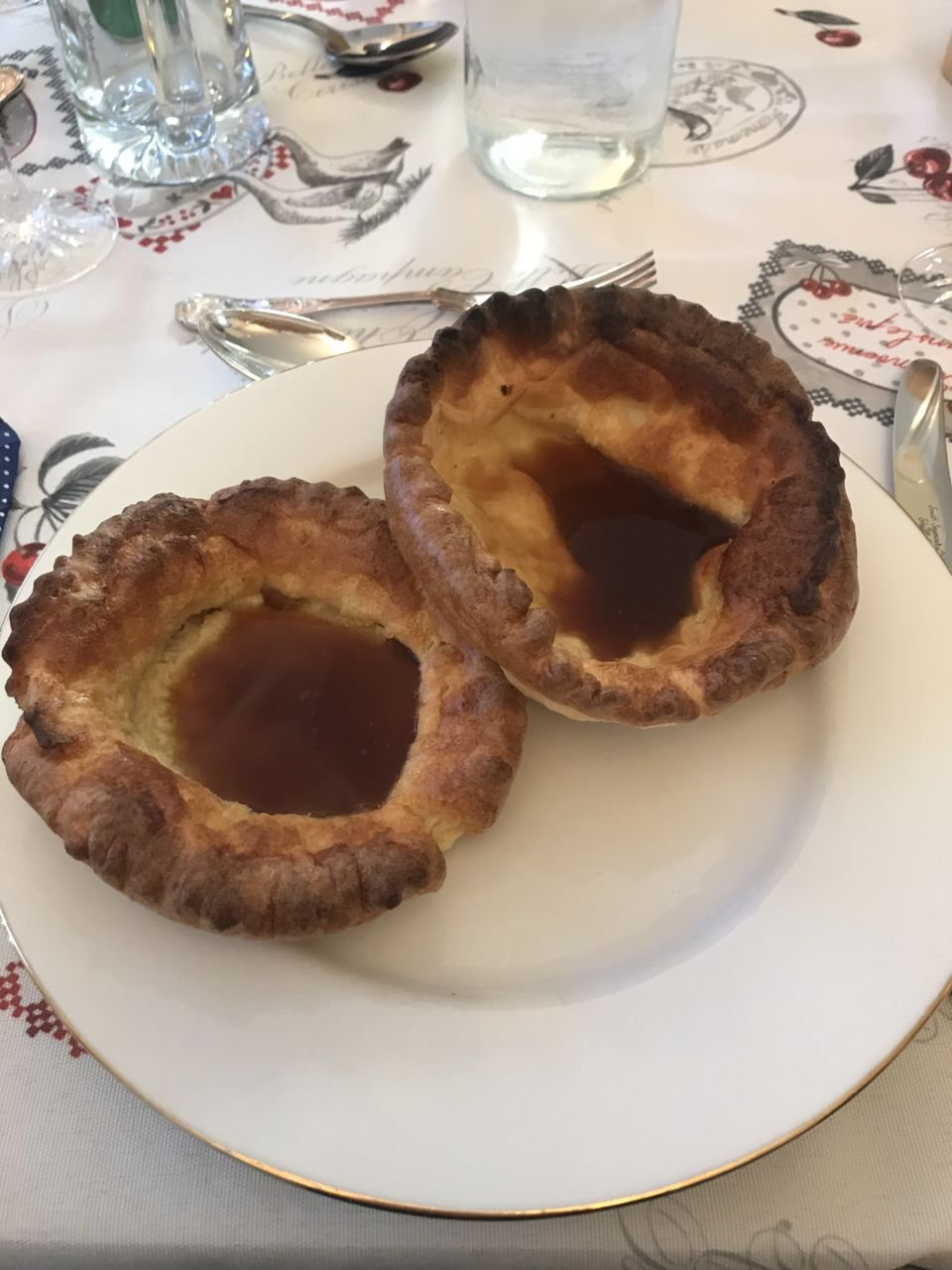 Proper giant Yorkshire puddings as a starter