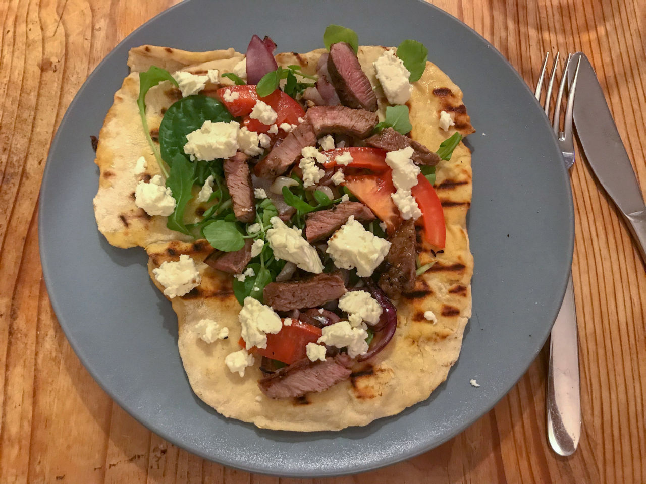 Chargrilled Lamb Flatbreads recipe