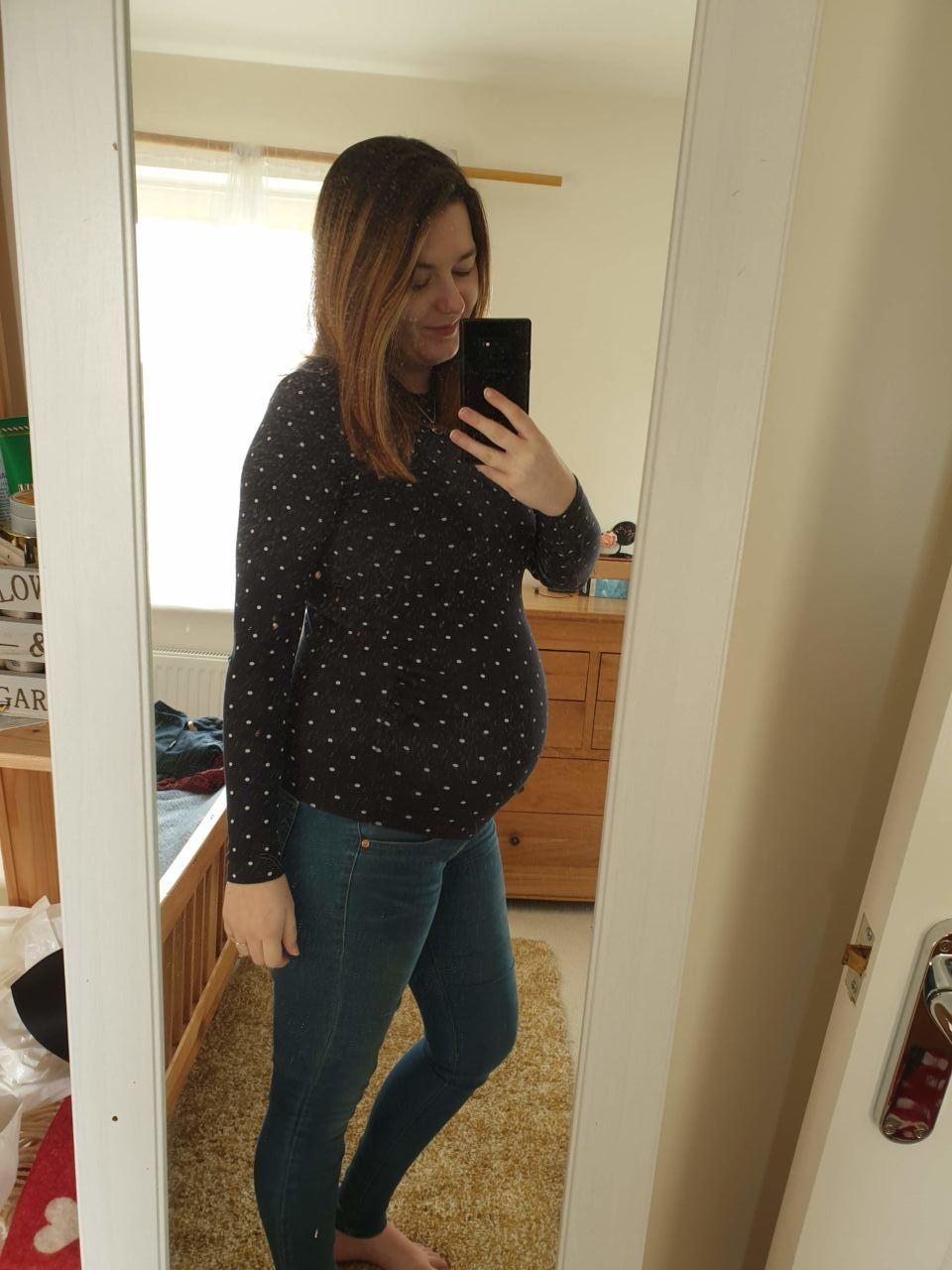 33 weeks blogger pregnancy diary outfit