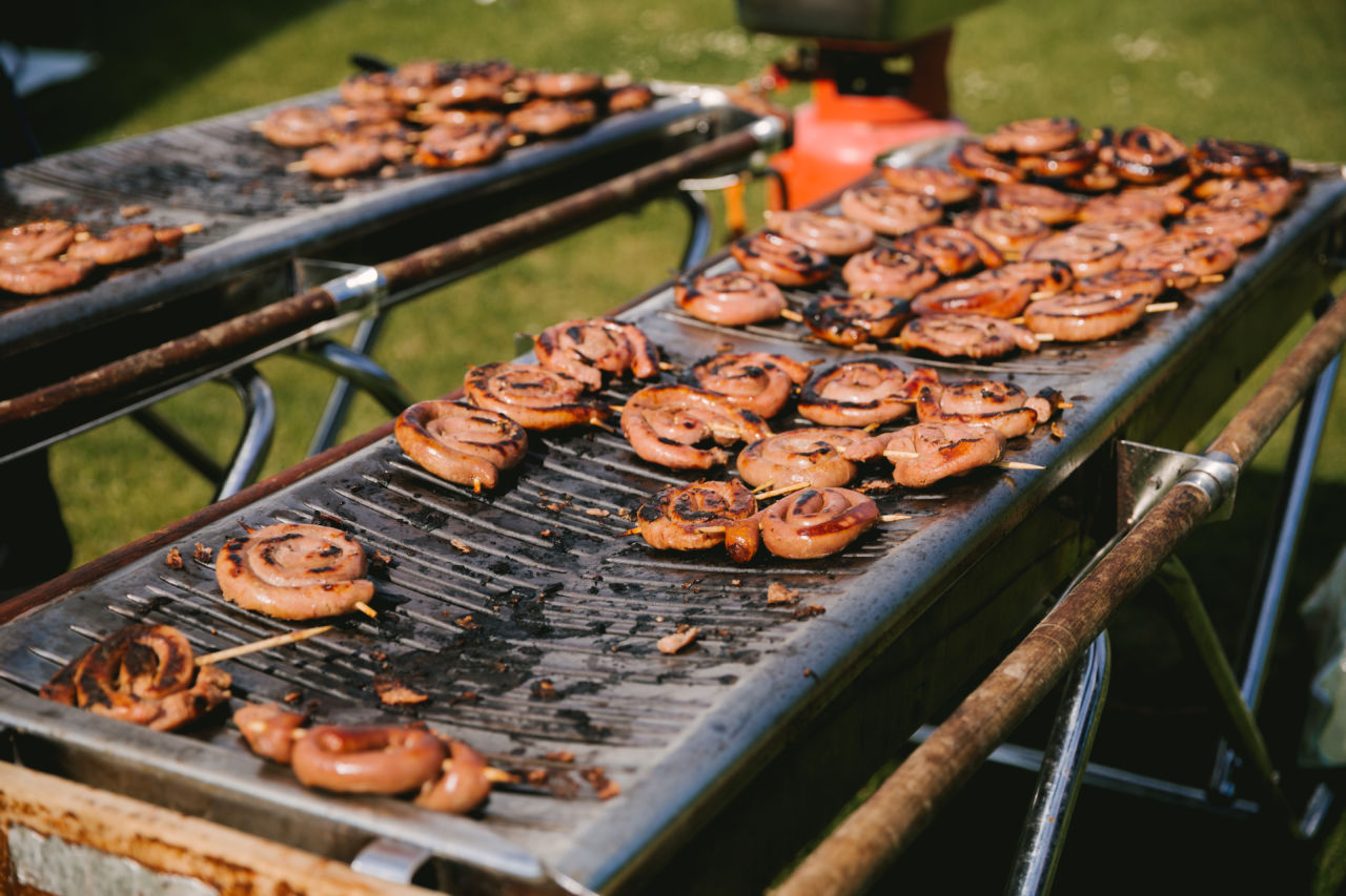 Harrogate Food & Drink Co wedding catering review - Newburgh Priory wedding North Yorkshire - BBQ boards