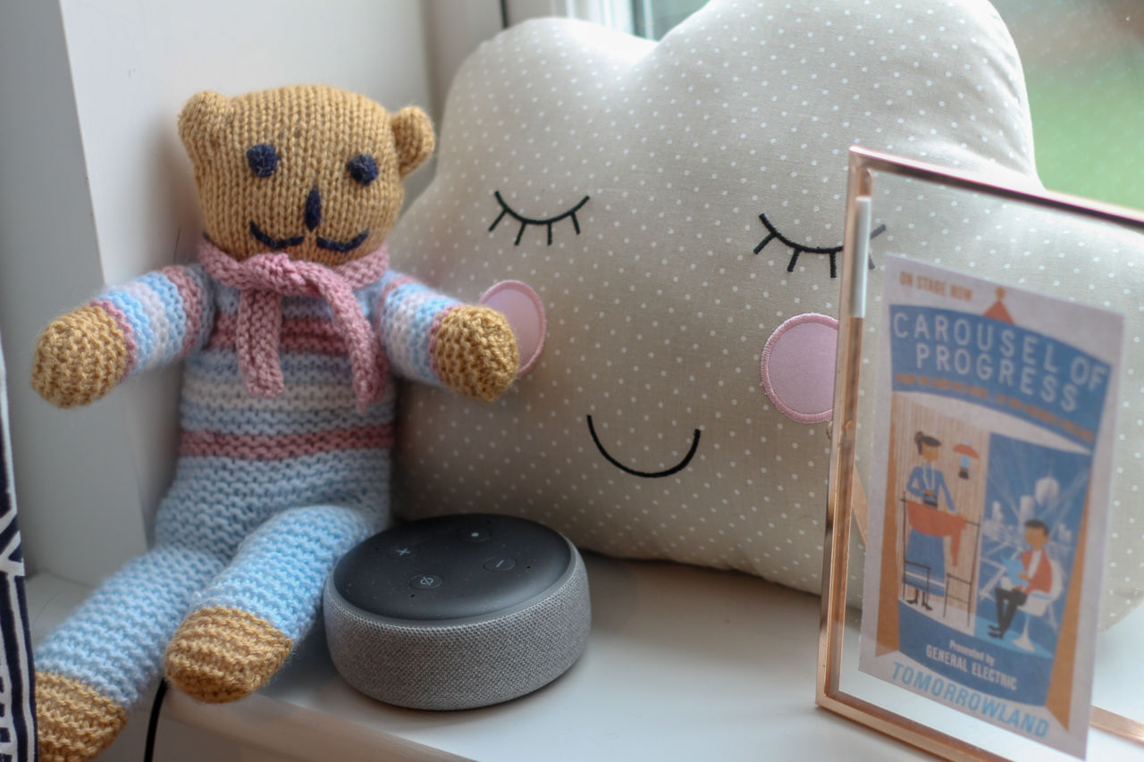 Amazon Echo Dot in the nursery