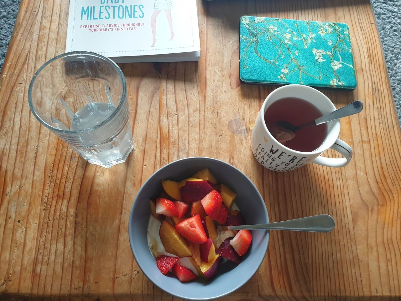 36 weeks pregnancy diary - maternity leave breakfast