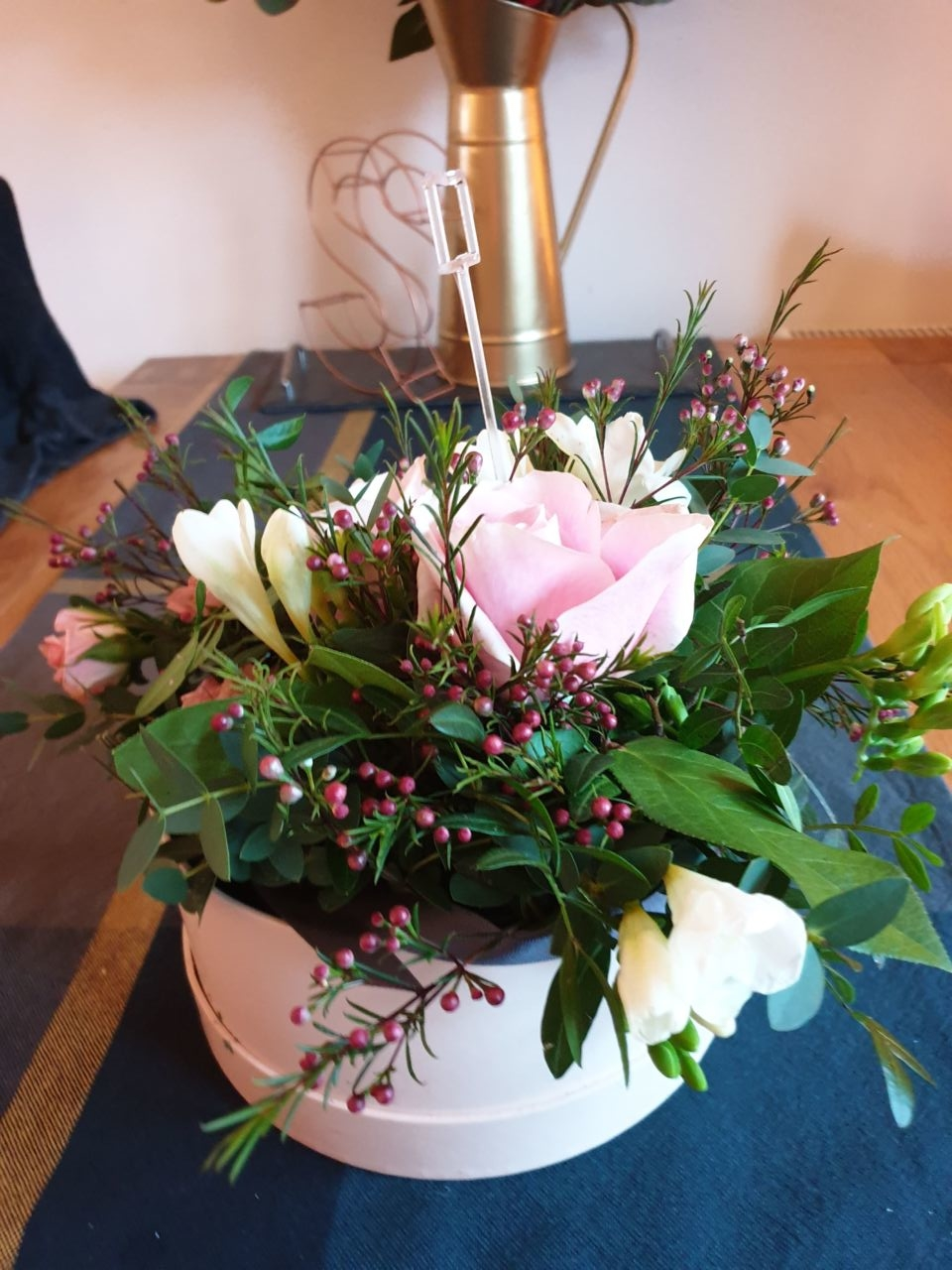 Flowers received for newborn baby