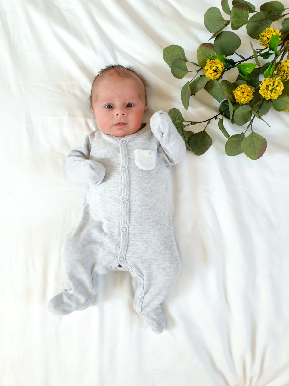 Belles and Babes organic baby clothing subscription review - Mori sleepsuit