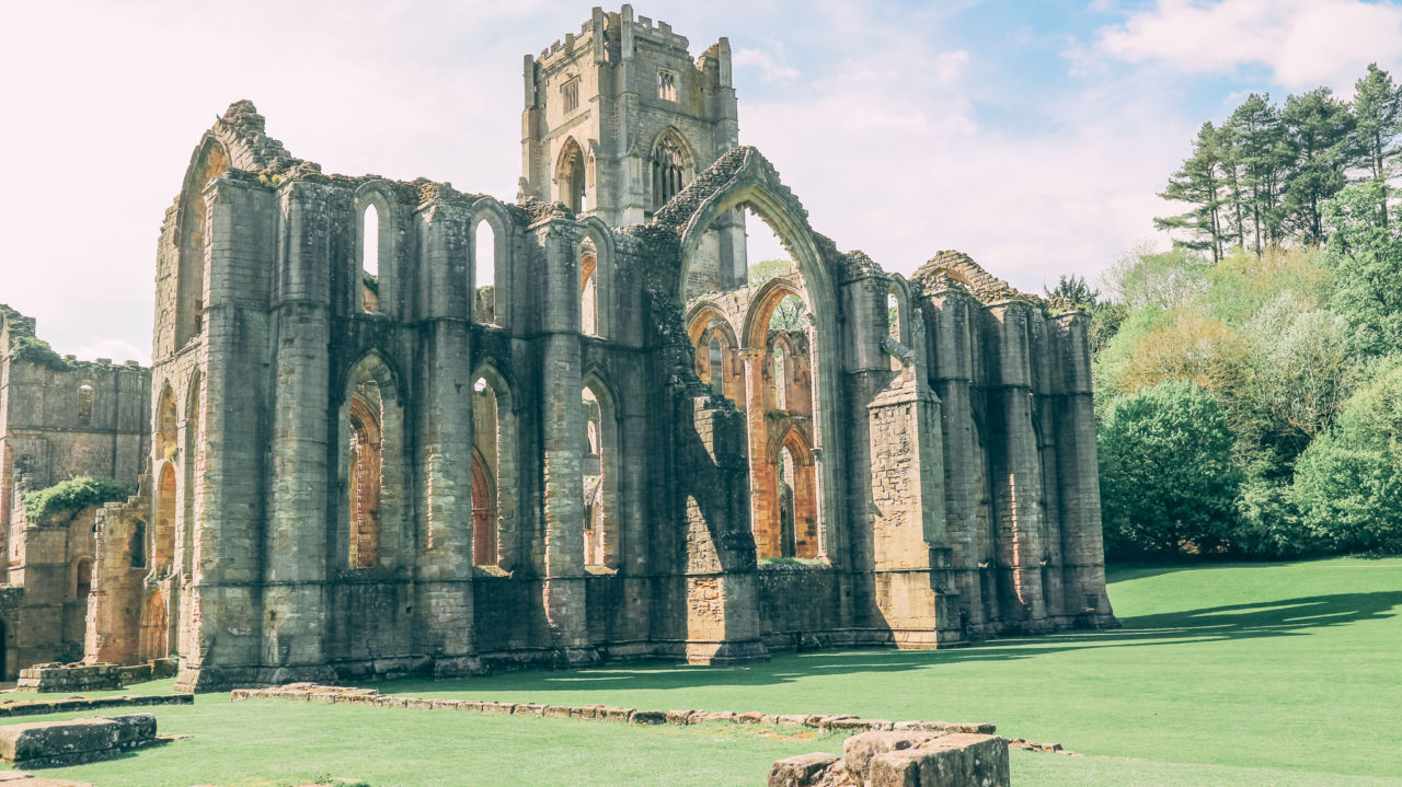 Fountains Abbey - North Yorkshire travel blogger