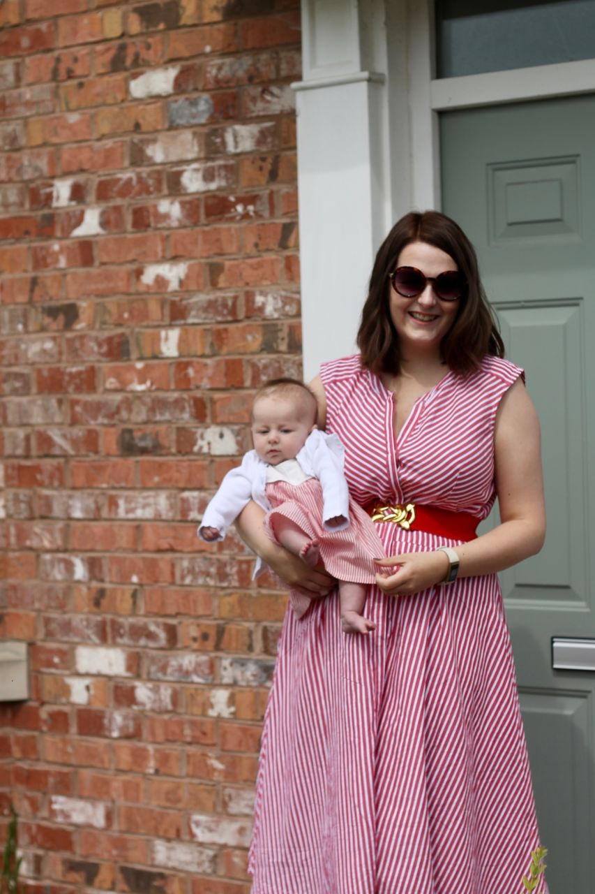Emmy at 3 months - weeks 9 to 12 - matching mummy and baby dresses for wedding